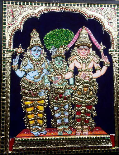 Girija Kalyanam Tanjore Painting, Size: 18 X 24 Inches, Rs 17500 ...