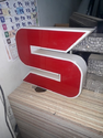 S Red Color Acrylic Signage