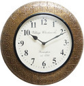 Wood Brass Fitted Wall Clock