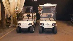 White Offline Rental Golf Cart