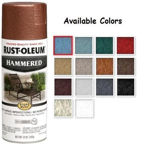 Rust Oleum Stops Rust Hammered Metal Finish Spray Paint