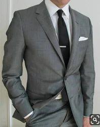 Mens Grey Formal Blazer