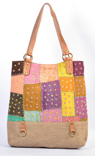 Handmade Jute Plus Patch Work Shopping Bag at Rs 1299 /piece | New ...