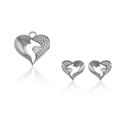 Sterling Silver Pendant Set