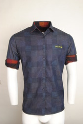 Casual Blue Shirt For Men