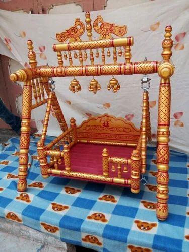 Wooden Krishna Palna Krishna Jhula क ष ण झ ल