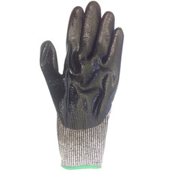 Black Marvel MGCN 3 Cut Resistant Gloves, Level 5, Nitrile Coating, Size: Large, Model Name/Number: Cn 33