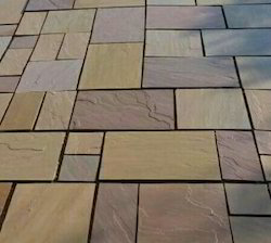 Golden Brown Sandstone Tiles for Outdoor Flooring