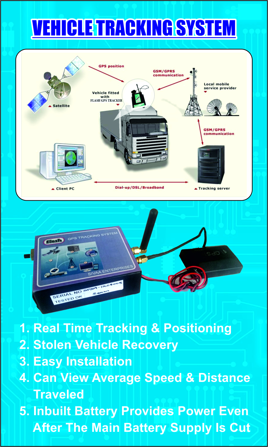 Tracking System Vehicle Tracking System Gps Manufacturer