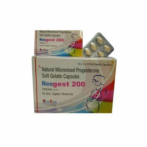 Neogest 200 Mg Soft Gelatin Capsule - Neosun Biotech (india