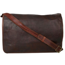 Genuine Leather Mac Book Messenger Bag MESS117