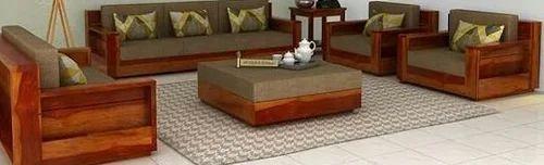 Rectangular Wooden Sofa Set