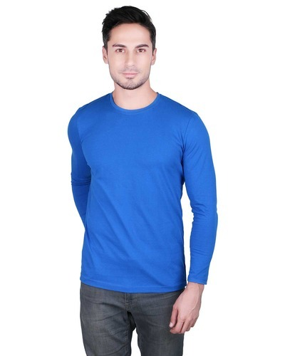 908a89afd Men's Cotton Full Sleeve R Blue T-Shirt, Rs 155 /piece, Prinlay | ID ...