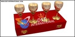 Gold Plated Wine Glass