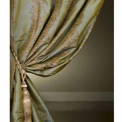 Printed Silk Curtain Fabric Rs 150 Meter Gayathri