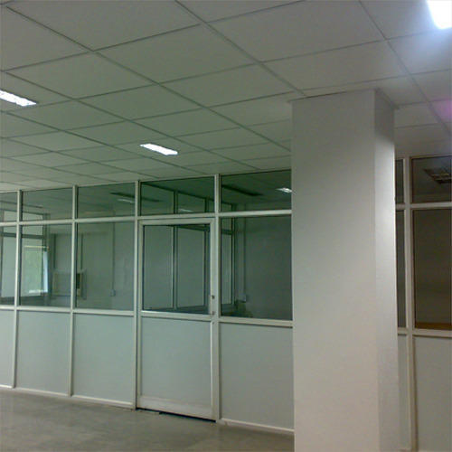 White Movable Aluminum Partitions For Office Rs 140 Square Feet