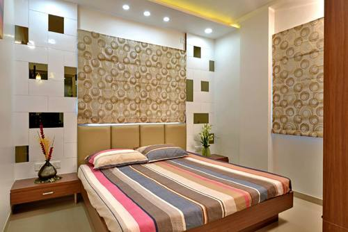 wooden bed with back paneling at rs 800 square feet