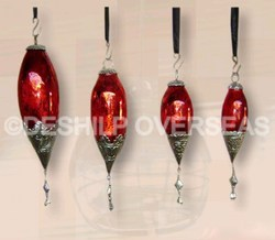 Red Silver Christmas Ornaments