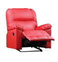 Bab Living Motorized Red Leather Recliner Chair, For Home, Seating Capacity: 1 Seater