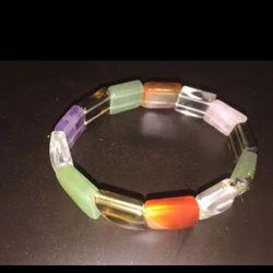 Seven Chakra Crystal Gemstone Bracelet