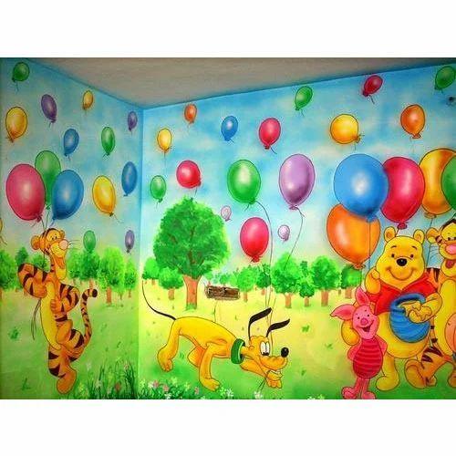School Wall Painting Service School Cartoon Wall Painting Service