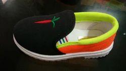 1518 Black Orange Kids Shoe