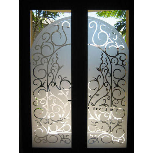 Etched Door Glass Surface Etching Glass Gaba Glass House