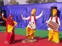 statues fiber made punjabi culture