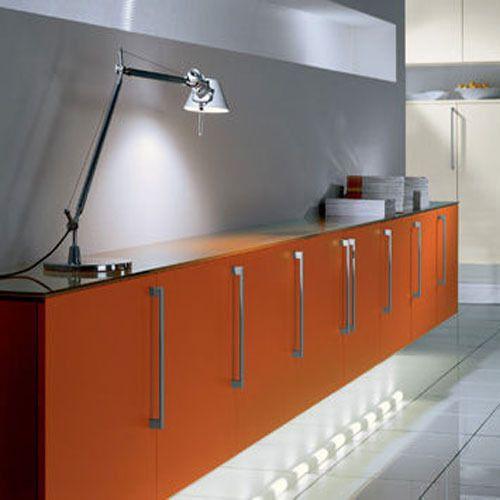 Solid Wood Melamine Wooden Kitchen Cabinet