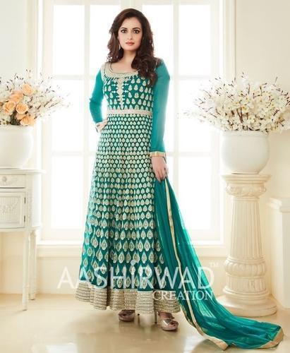 0f058f5e0f7 Georgette Party Wear Almirah Collection By Dia Mirza Salwar Kameez Dress  Material