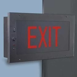 Exit signs manufacturers suppliers dealers in vadodara gujarat auditorium series recessed mounted exit light mozeypictures Images