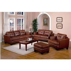 Leather Sofa Set