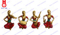 Golden Musical Lady Set Statues, For Interior Decor