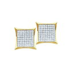 10K Yellow Gold Single Cut Diamond Earring