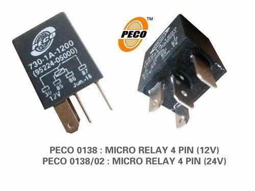 Micro Relay 4 Pin 12v 24v at Rs 55 pieces Chakan Pune ID