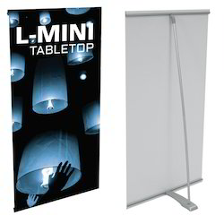 L Mini Table Top Banner Stand