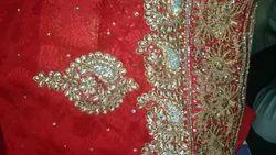Zari Hand Work Saree With Blouse Piece