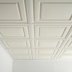 Metacil White GRG Ceiling Grid Tiles, Thickness: 8-16 mm