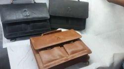 Plain Genuine Leather Office Bag