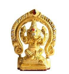 Gold Leafing On Ganesh With Kaman