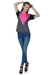 Pink and Gray Ladies Top