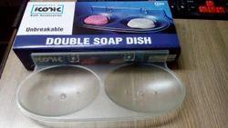 Iconic Transparent Double Soap Dish