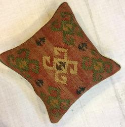 Wool Jute Cushion Cover