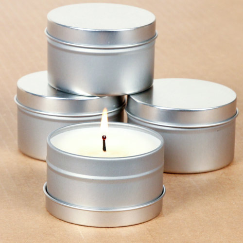 Printed And Plain Candle Tin Containers Rs 9 Pack