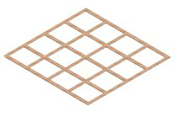 Lattice Copper Earth Plates