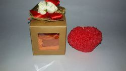 Heart Candle with A Design Gift Box