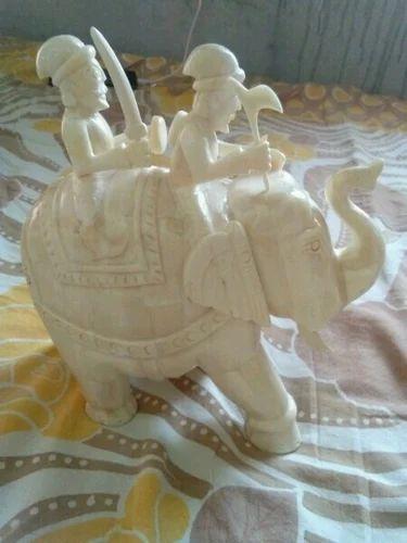 Bone Elephant Statue Bone Crafts Manufacturer From Jodhpur
