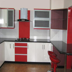 4 Shelves Modular Kitchen Cabinet