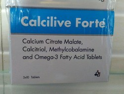 Calcium Citrate Malate Calcitriol, Methylcobalamine and Omega-3 Fatty acid Tablets