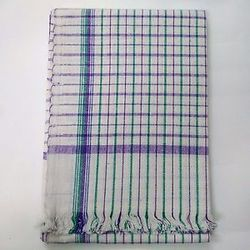 White Checked Towel
